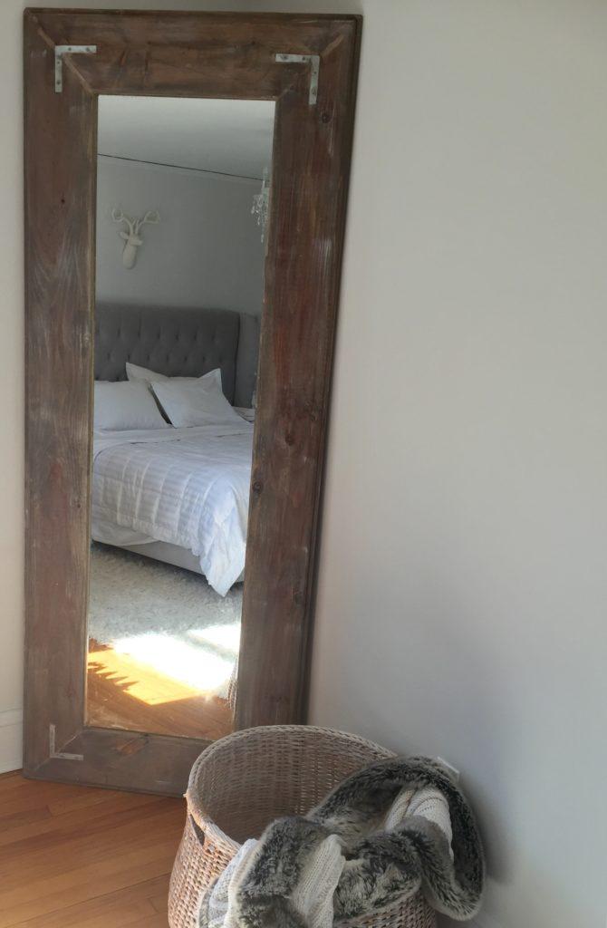 DIY Large Leaning Floor Mirror - Pinteresting Plans