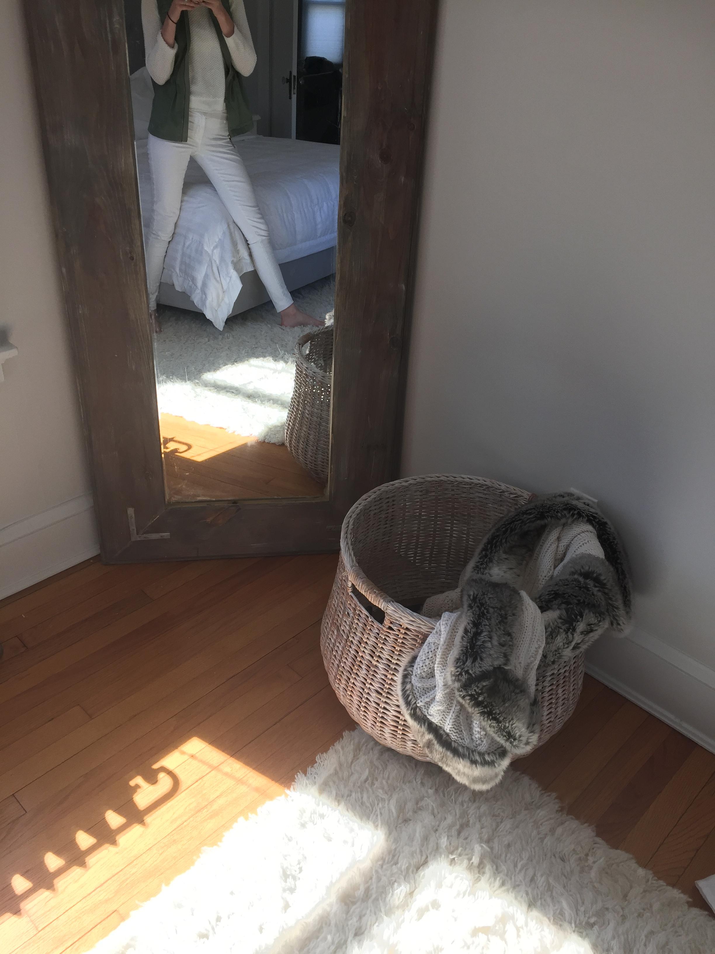 Diy Wood Floor Mirror Pinteresting Plans