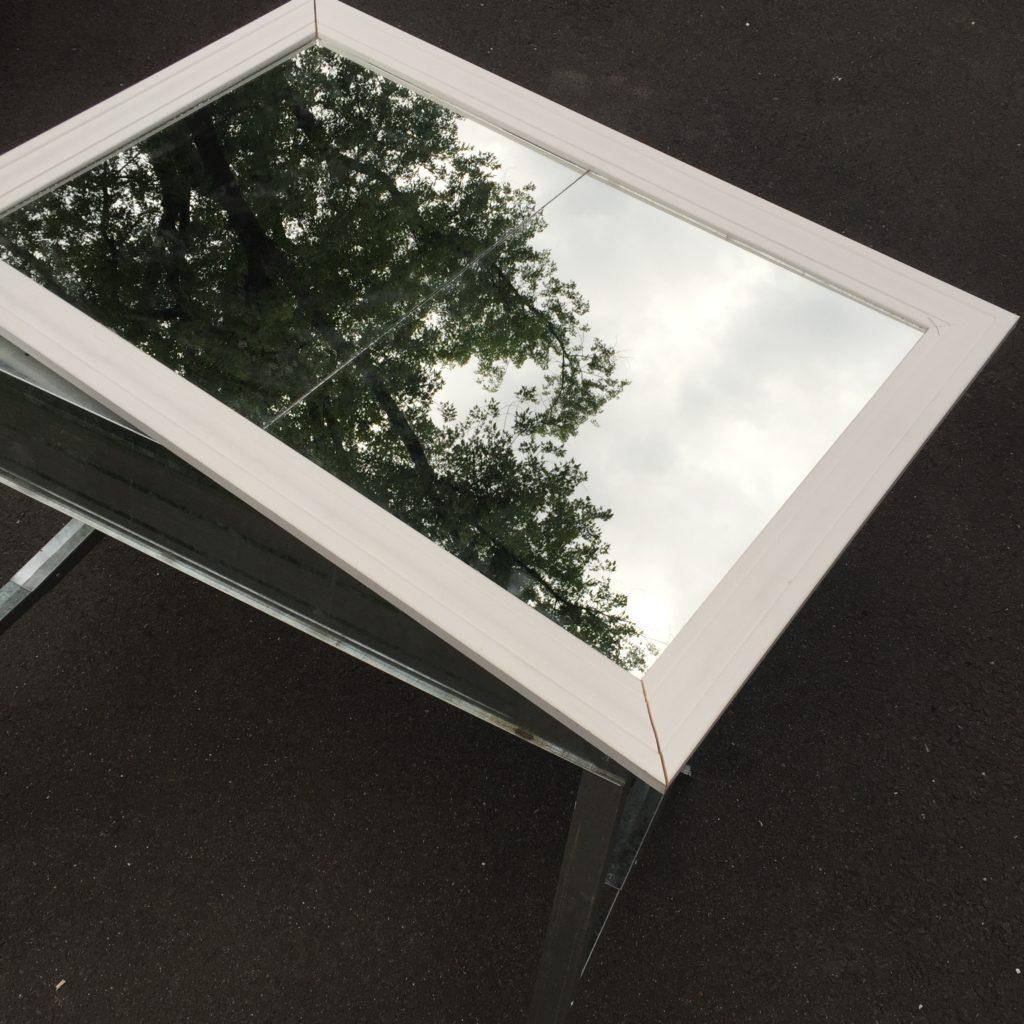 diy window pane mirror
