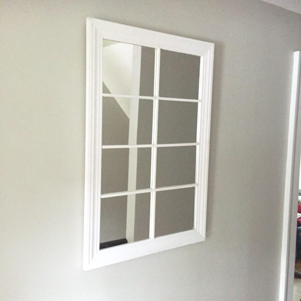 DIY simple window pane mirror