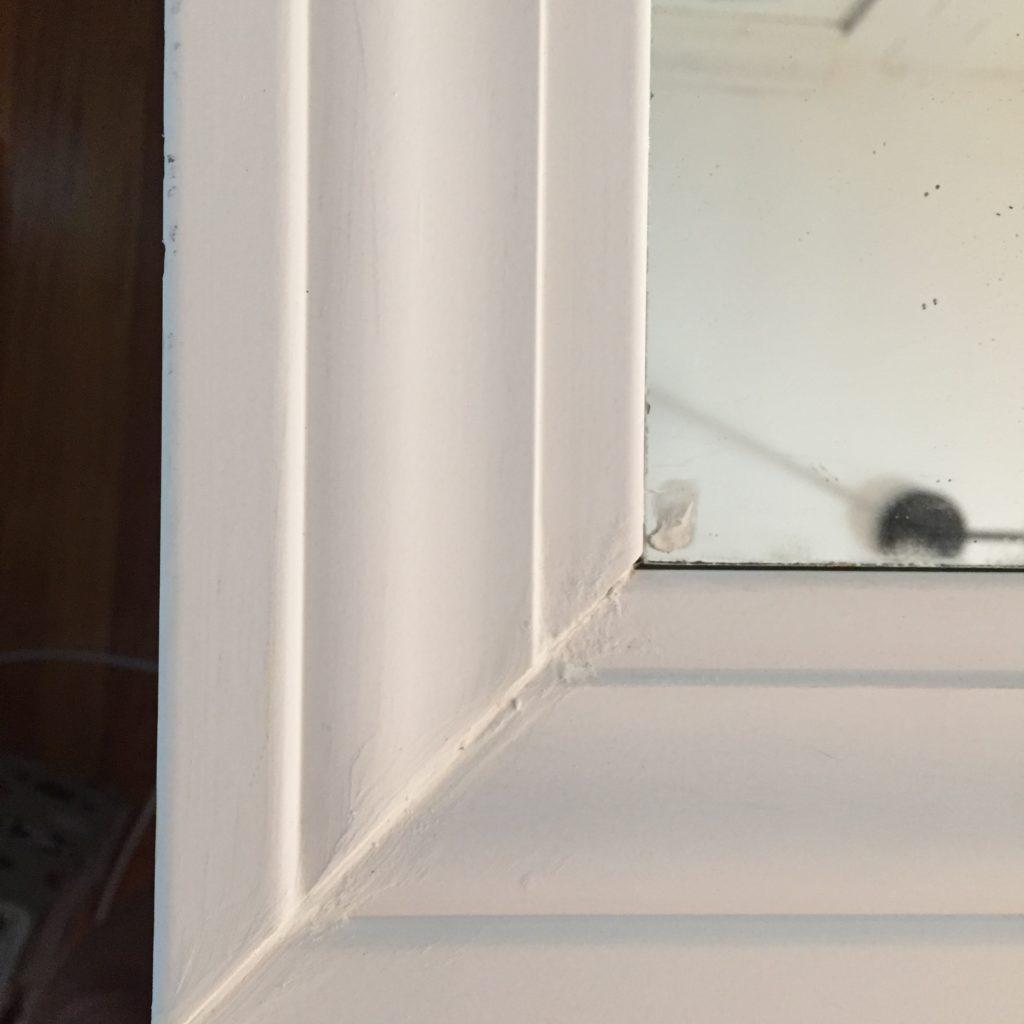 diy window pane mirror (wood filler)