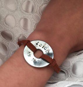 love an addict stamped bracelet fundraiser