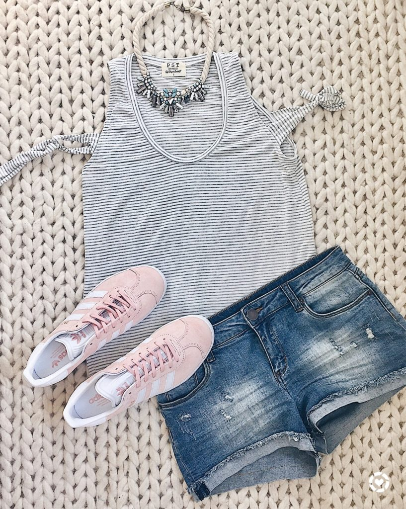 Connecticut life and style blogger, Pinteresting Plans shares some of her favorite early Summer outfit ideas from those I have shared on Instagram.