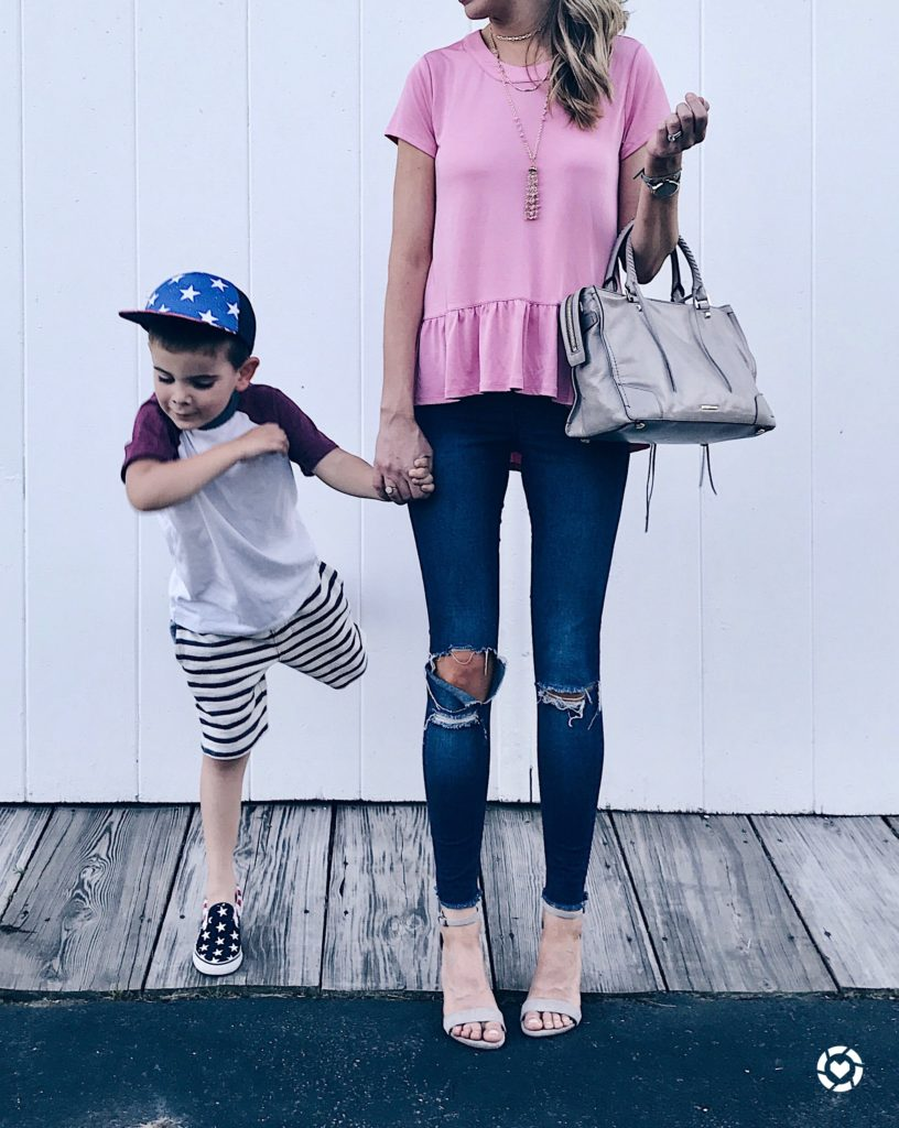 liketoknow.it.family takeover friday - pinteresting plans pajama jeans and pink peplum top