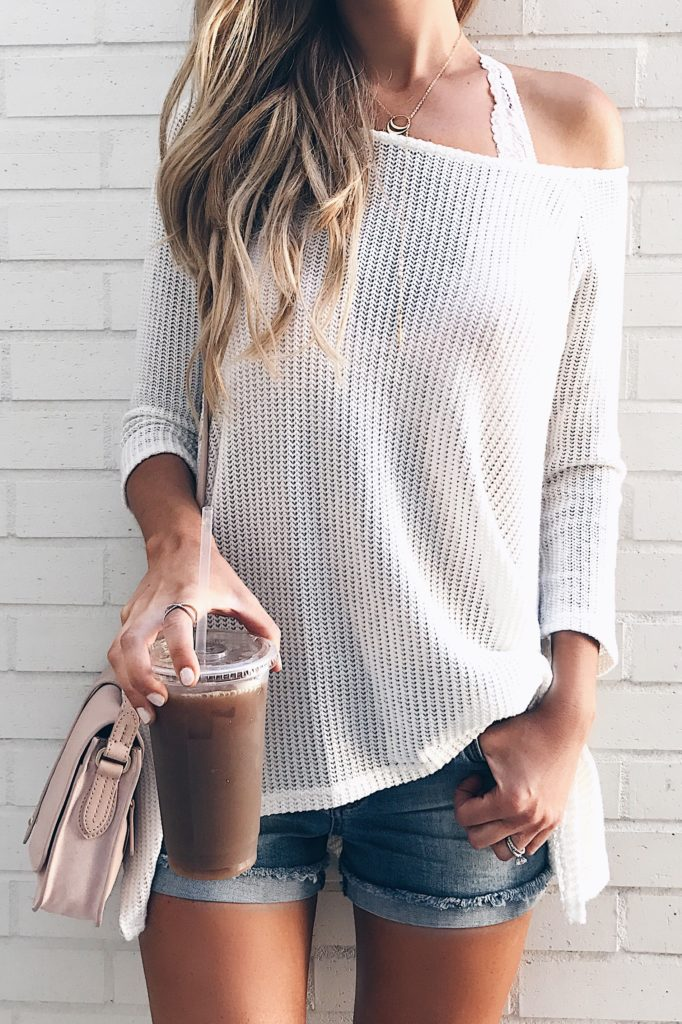 Connecticut life and style blogger, Pinteresting Plans shares her favorite bralette outfit ideas for Summer. Styled under oversized tops & slouchy sweaters.