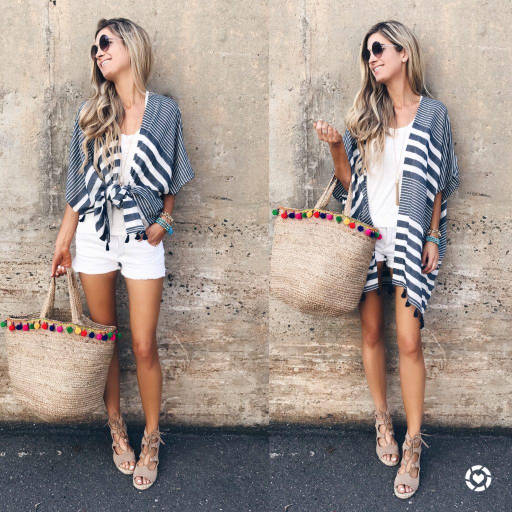 summer fashion trends 2017 - pom pom beach tote on pinterestingplans
