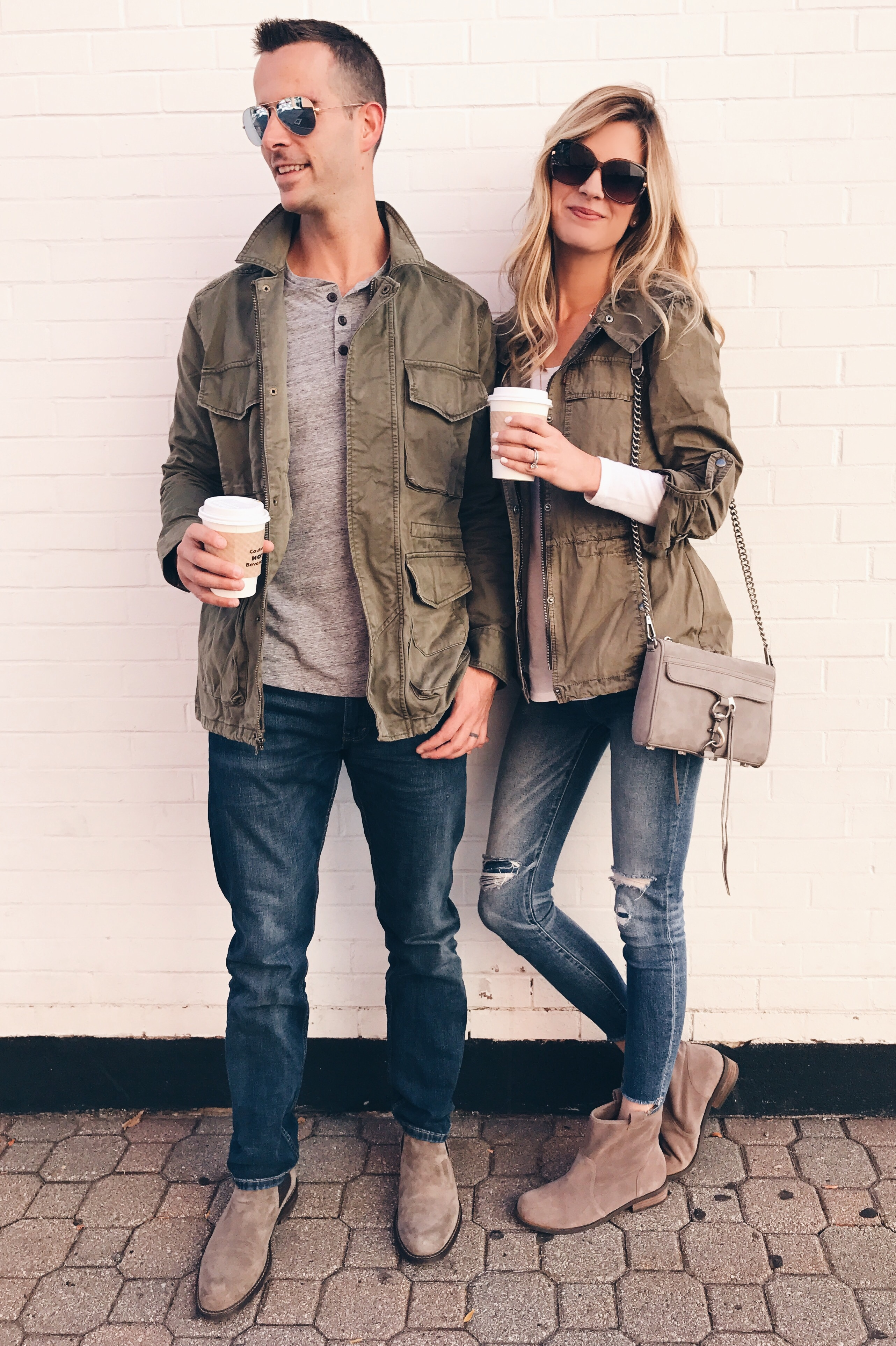 Green utility jacket a his and hers fall closet staple for His and hers wardrobe