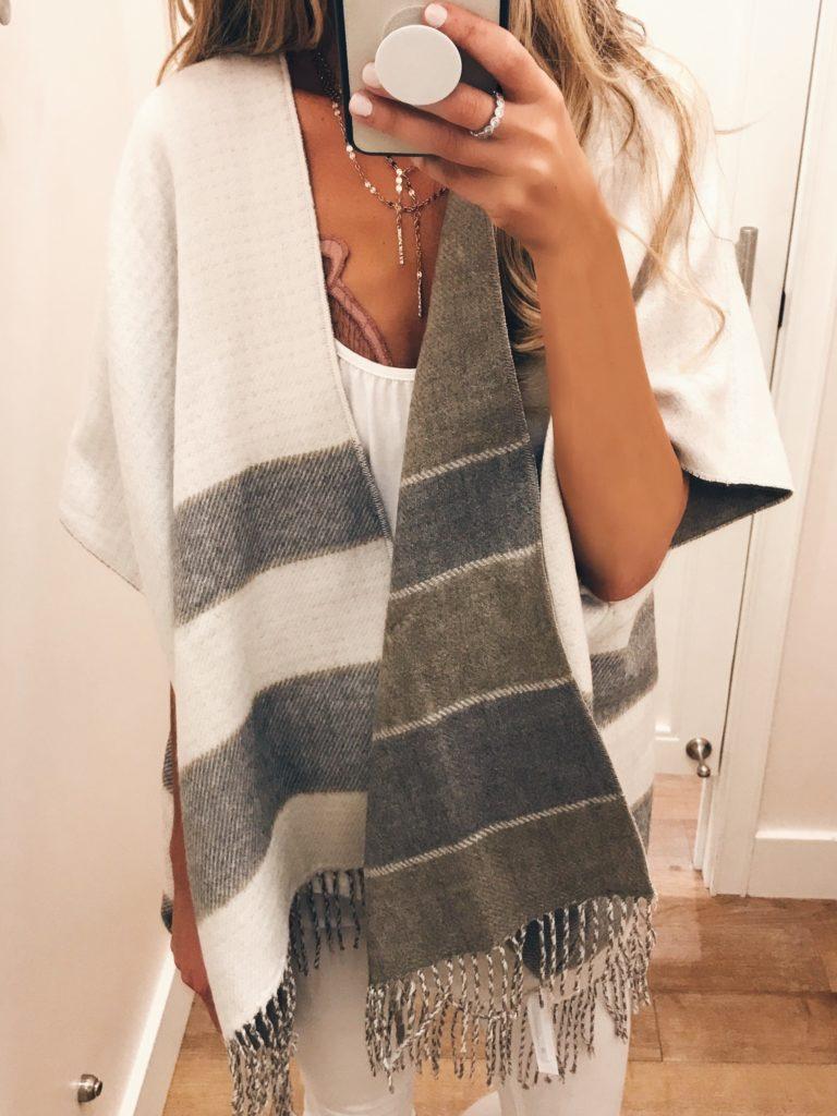 loft sale dressing room selfies - reversible wrap cape on pinterestingplans
