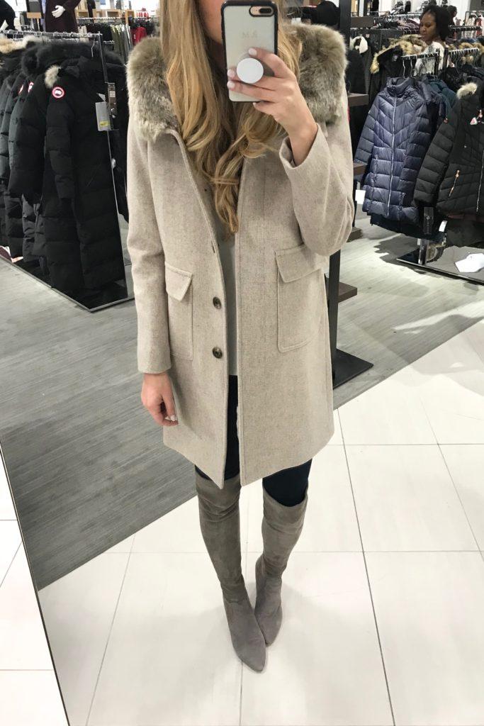Nordstrom black friday sale picks - fur trim women's coat
