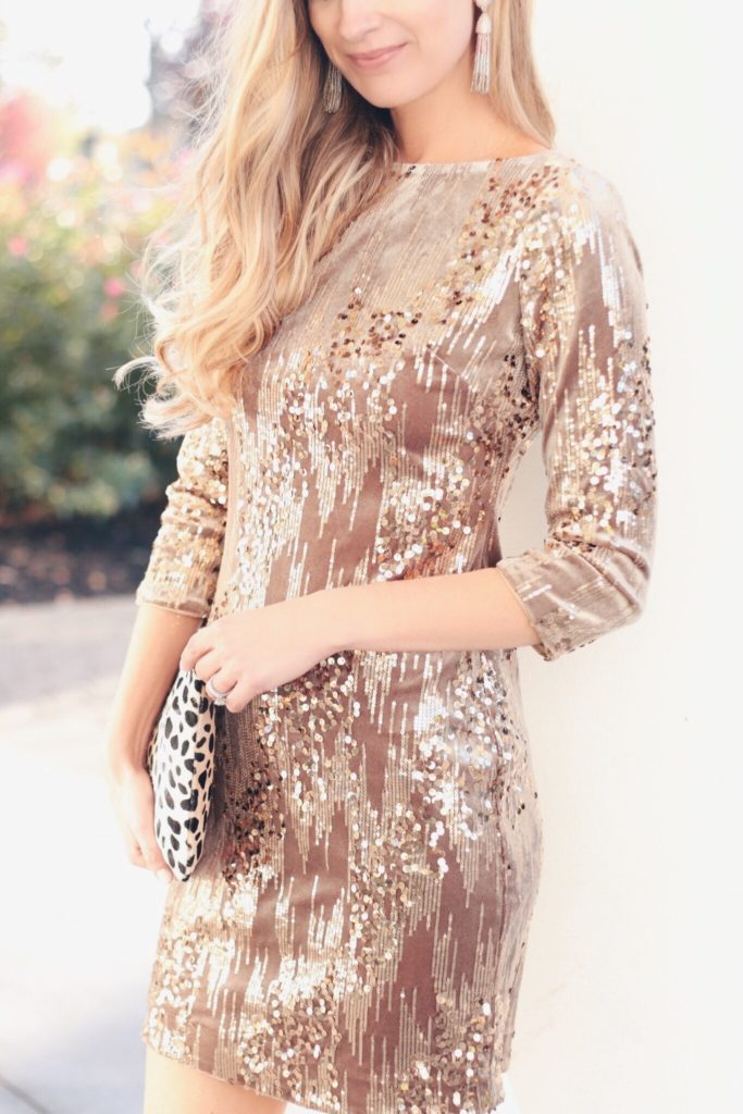 MUST SEE - holiday party dresses under $100 - velvet and sequin eliza J shift dress on pinterestingplans