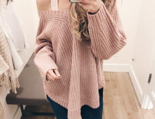 loft 40% off sale finds - oversized chunky knit tunic sweater on pinterestingplans