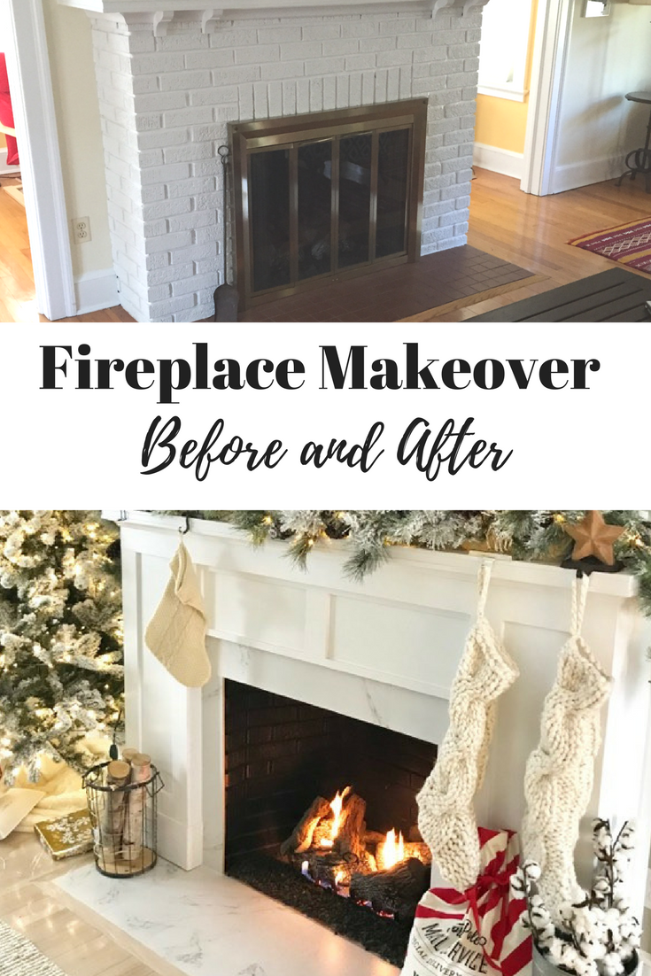 Fireplace Makeover before and after photos and details
