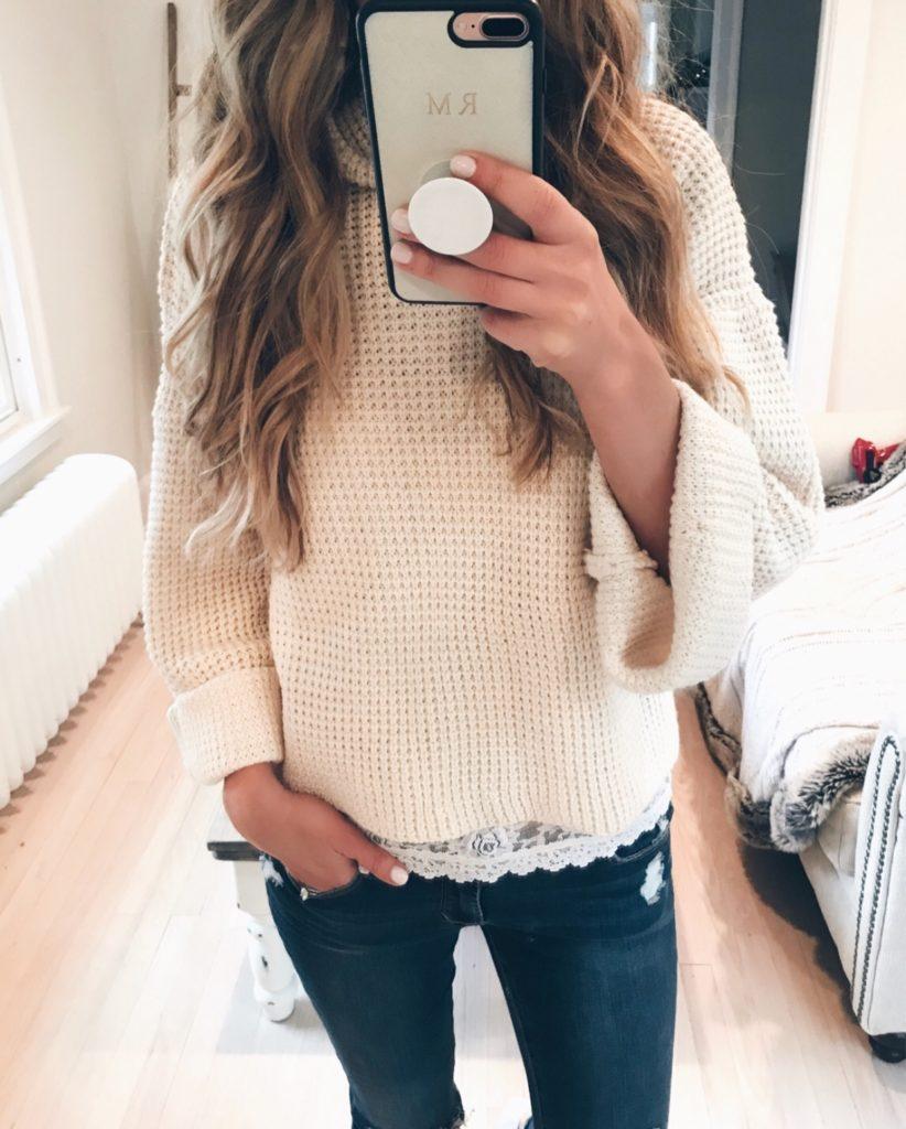 winter fashion trends 2018 - chunky turtleneck sweater on pinterestingplans