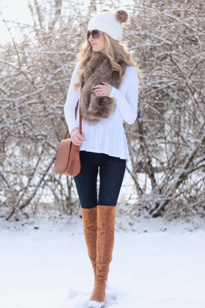 winter fashion trends 2018 - double pom pom beanie cute winter outfit on pinterestingplans