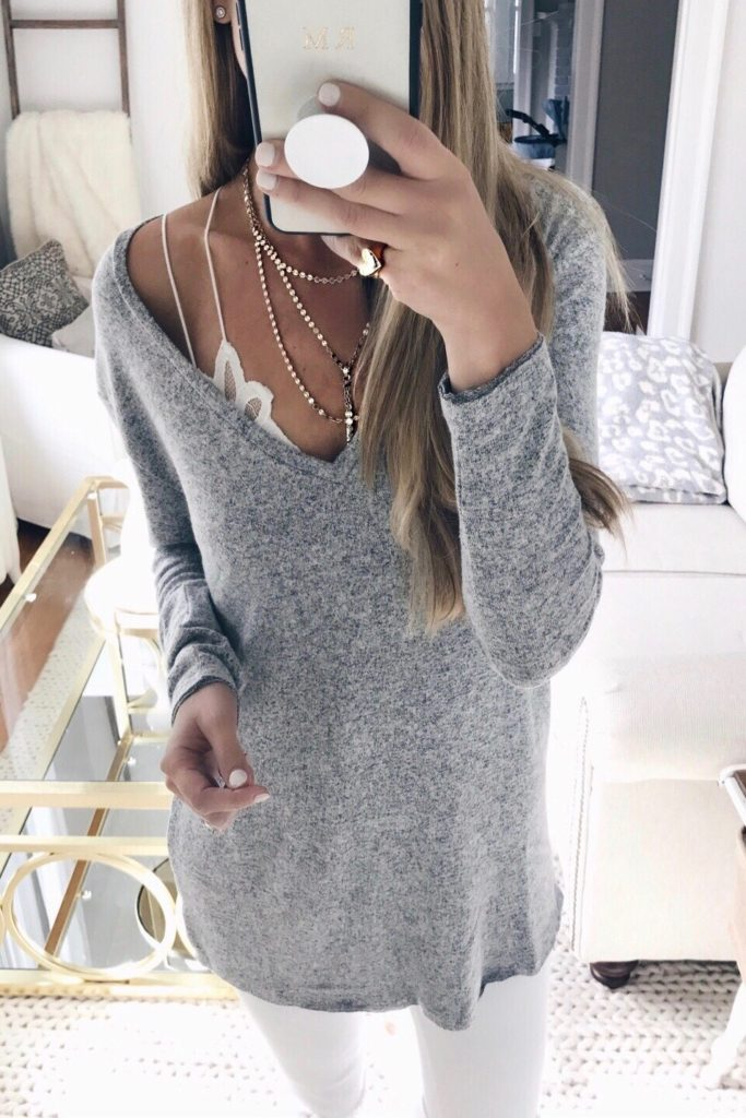 cute bralettes to add to your winter wardrobe - under a fleece tunic