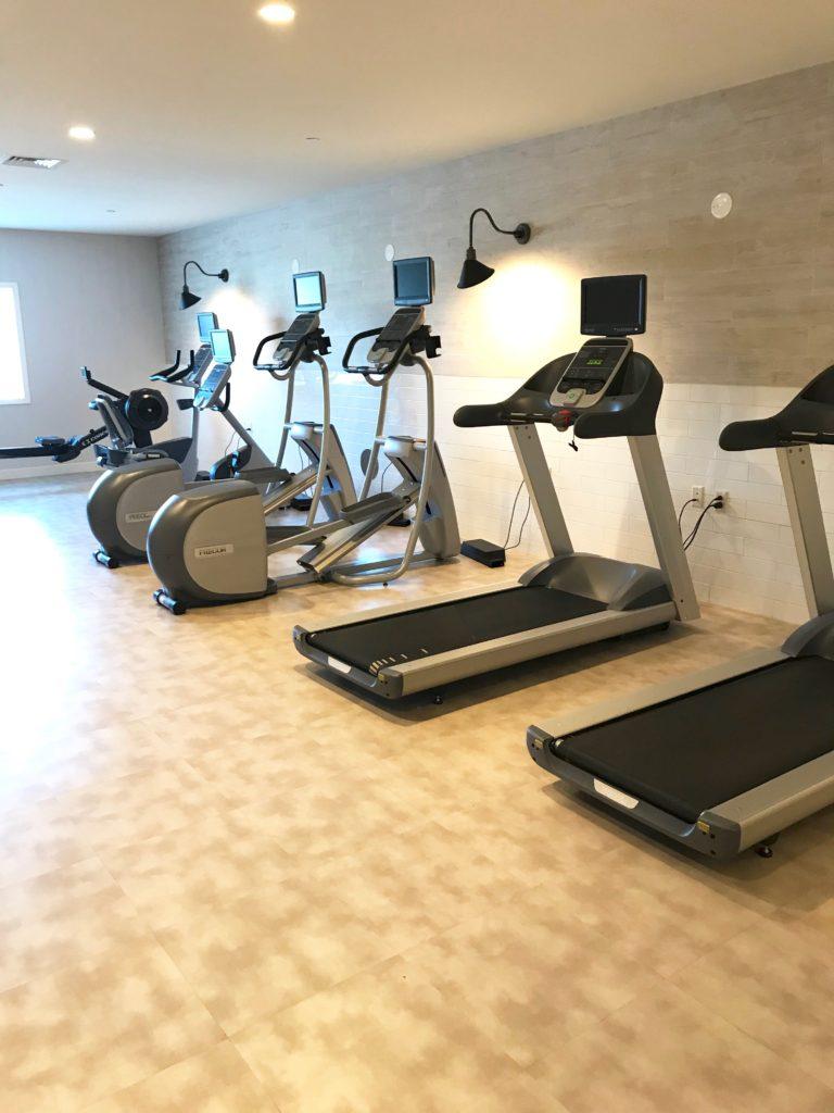 delamar hotel review - fitness center treadmills