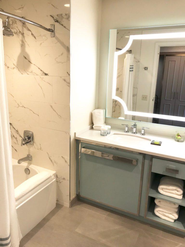 delamar hotel review - west hartford location - bathroom in terrace access hotel room