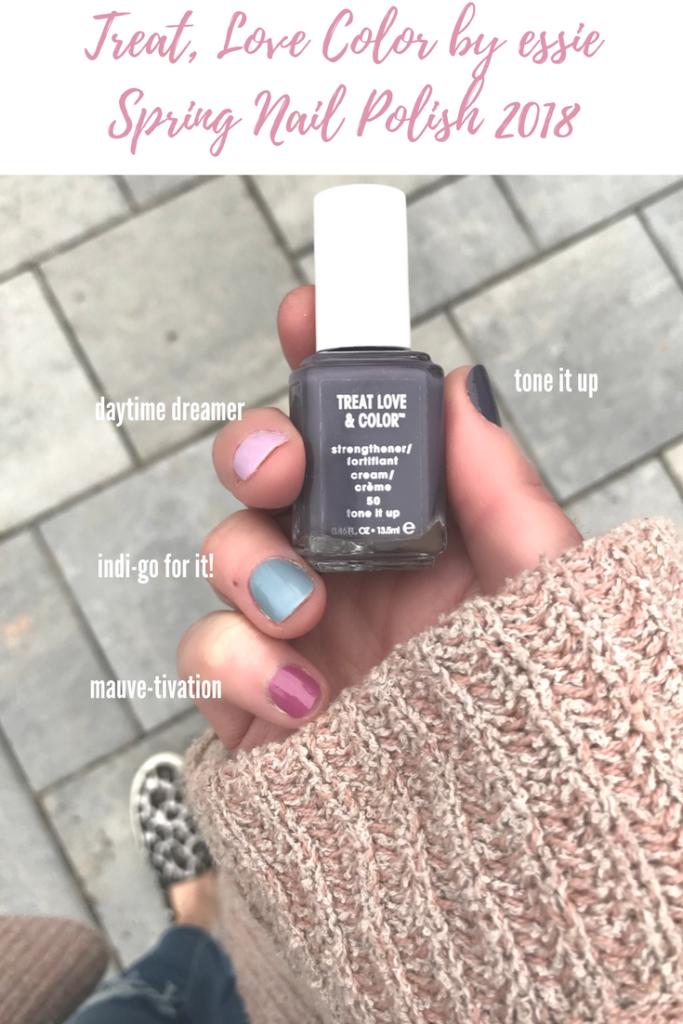essie Treat, Love Color Spring Nail Polish Shades 2018 Darker Cream Colors on Pinteresting Plans Blog
