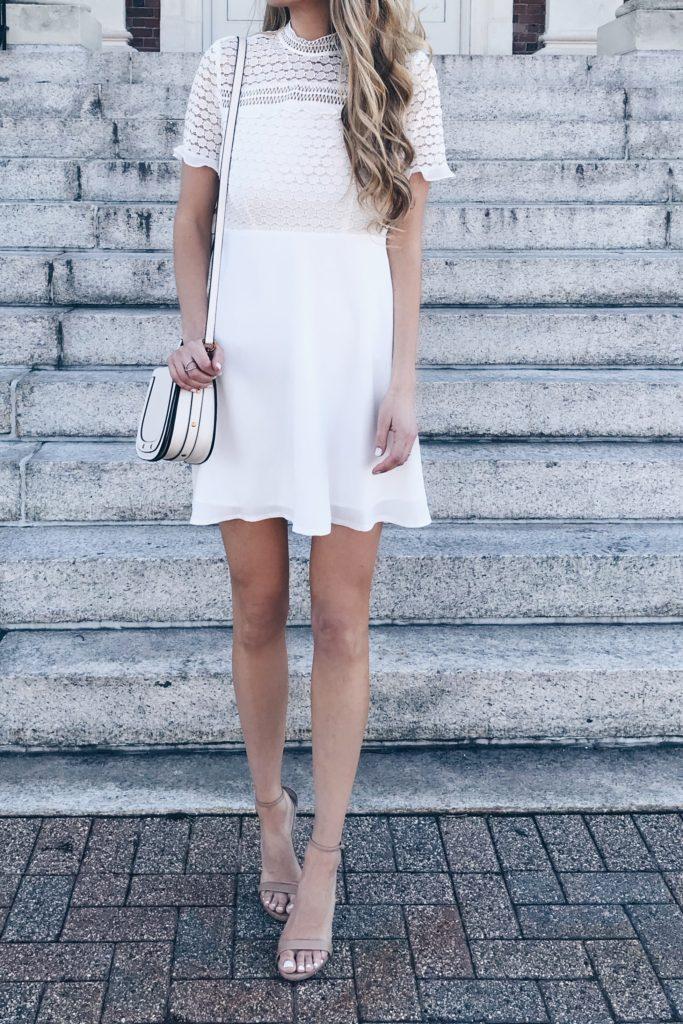 short Lace White Bridal Shower Dress