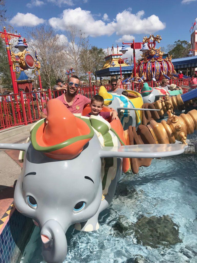 tips for Magic Kingdom - rides for preschool age kids - Dumbo flight on pinterestingplans blog