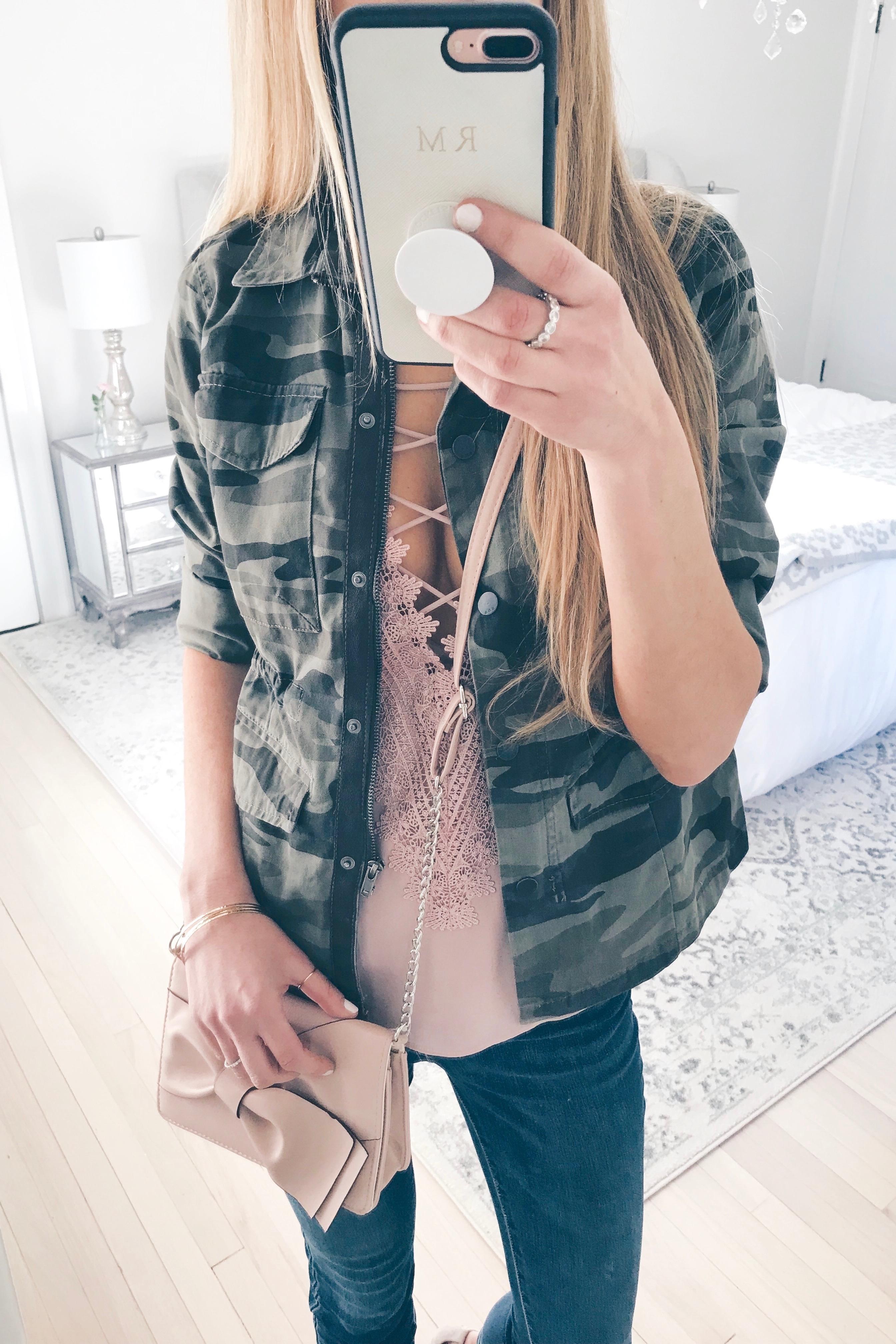 Weekly Wrap-Up Camo Military Jacket