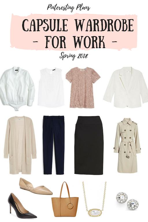 Pinteresting Plans Spring Capsule Wardrobe for Work 2018