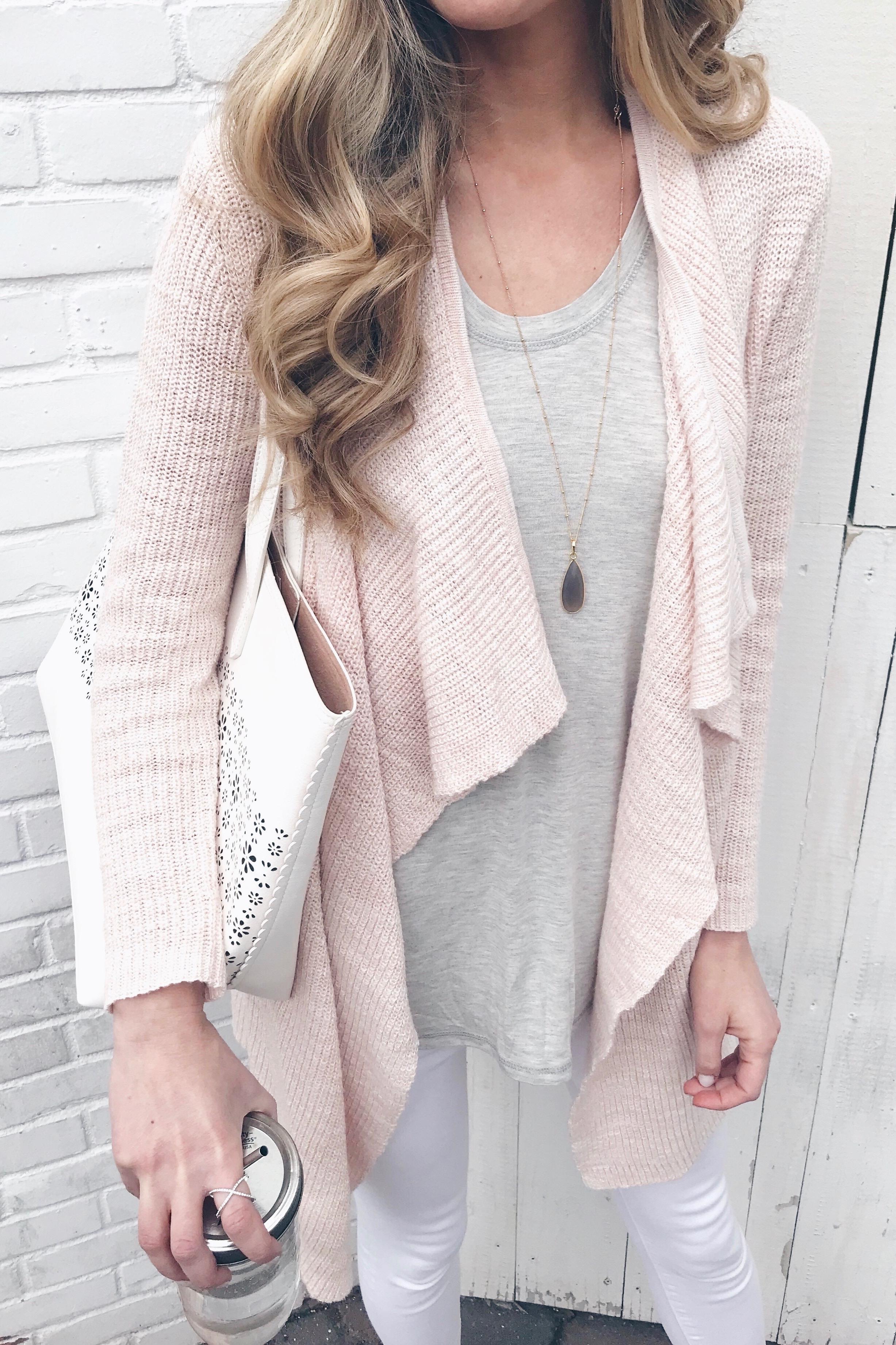 Weekly Wrap Up - Pink Cardigan
