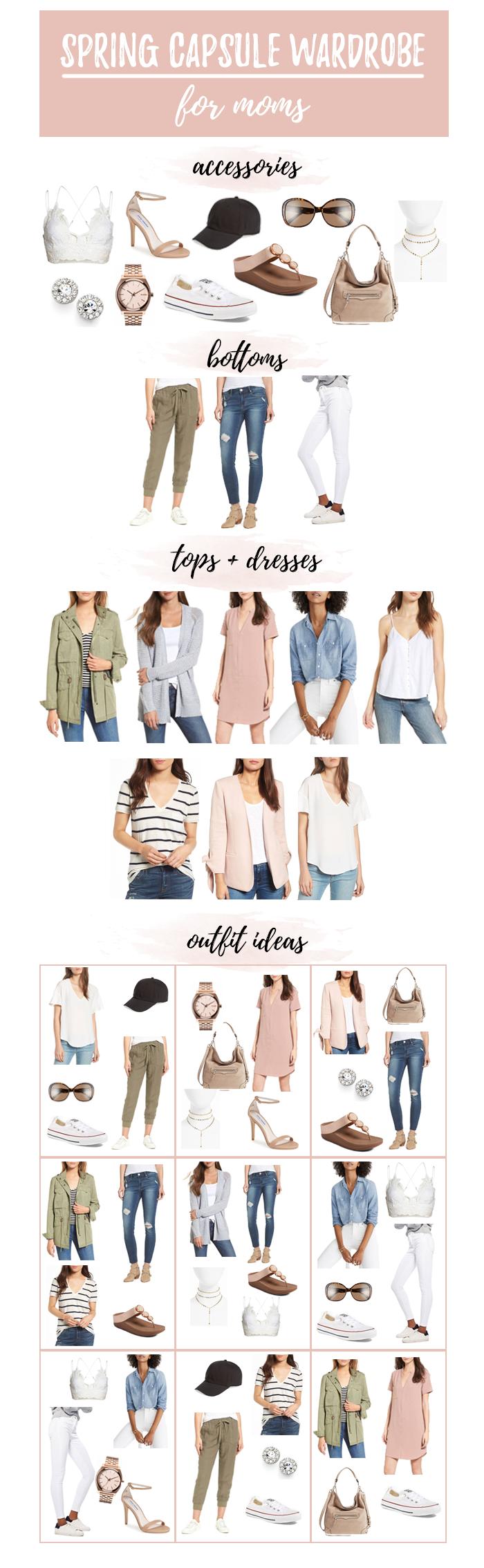 spring capsule wardrobe for moms 2018