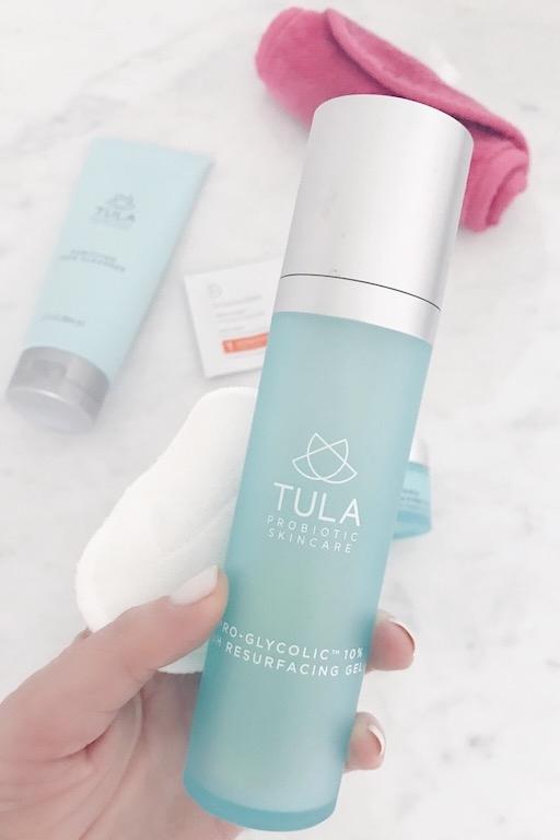 My nighttime skincare routine - PH balancing Tula toner on Pinteresting Planf lifestyle blog