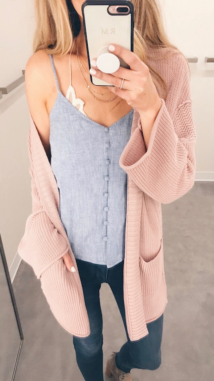Spring Outfit Round Up - Button Up Cami/Cardigan