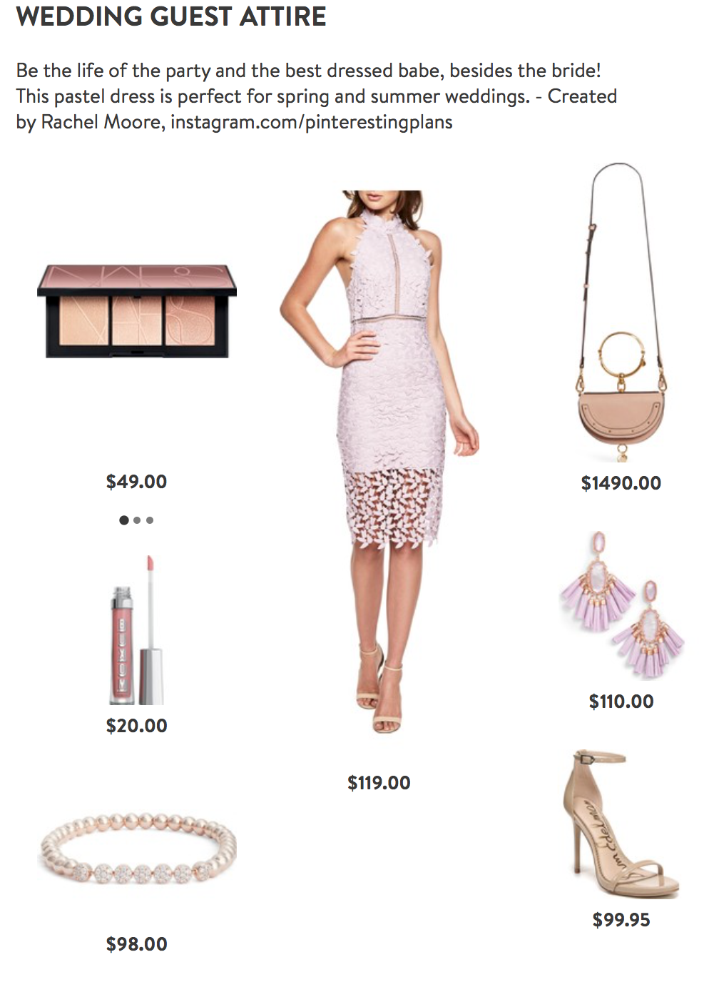 Spring Wedding Guest Dress Outfit from Nordstrom on Pinteresting Plans Fashion Blog