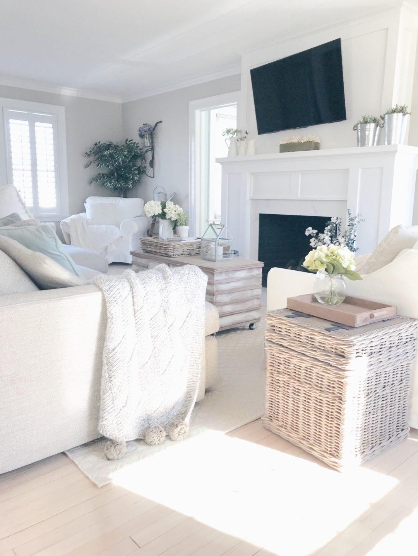 tips for surviving a home renovation - coastal farmhouse living room makeover on pinteresting plans blog