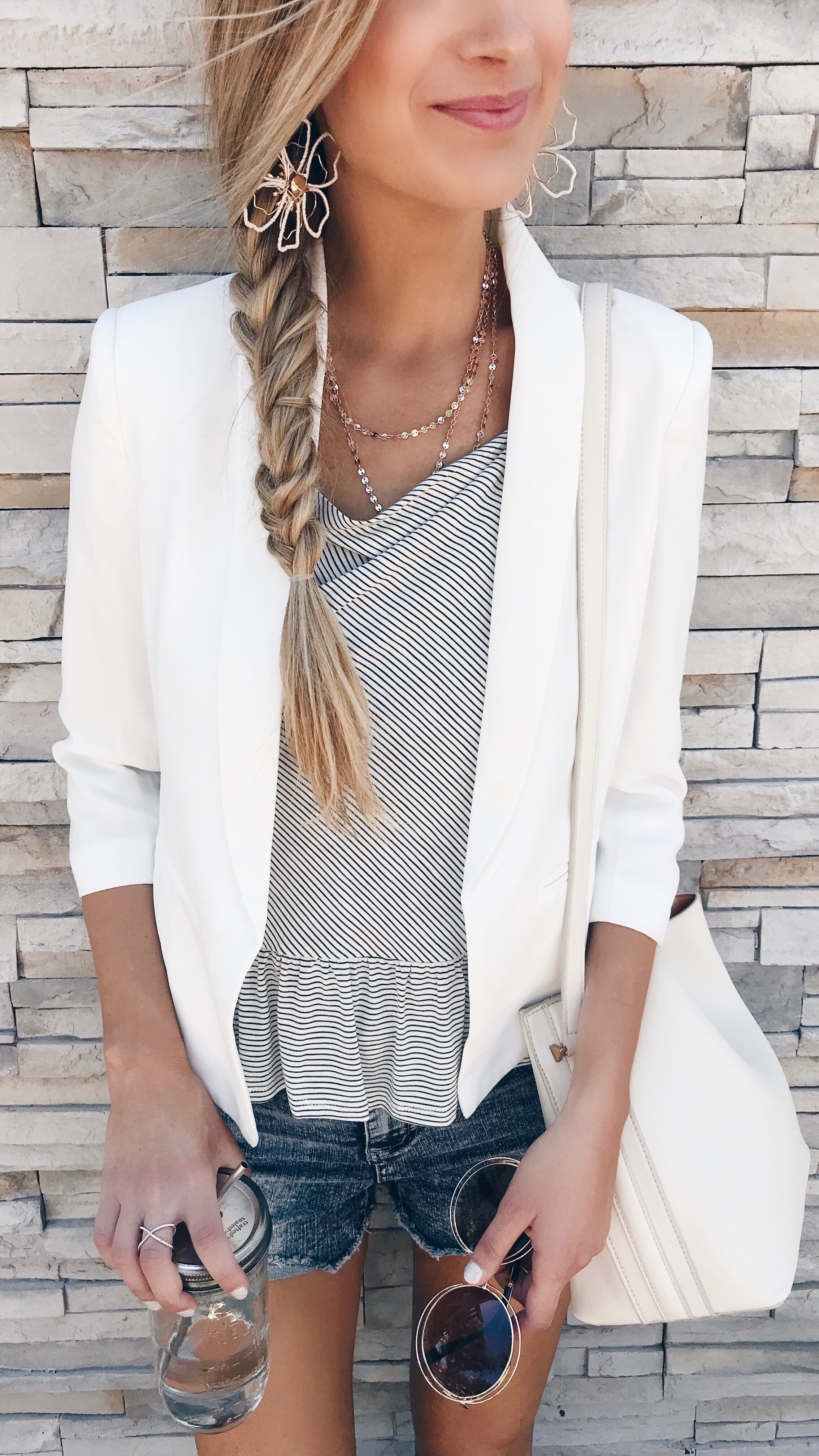 Early Summer Outfits - White Blazer