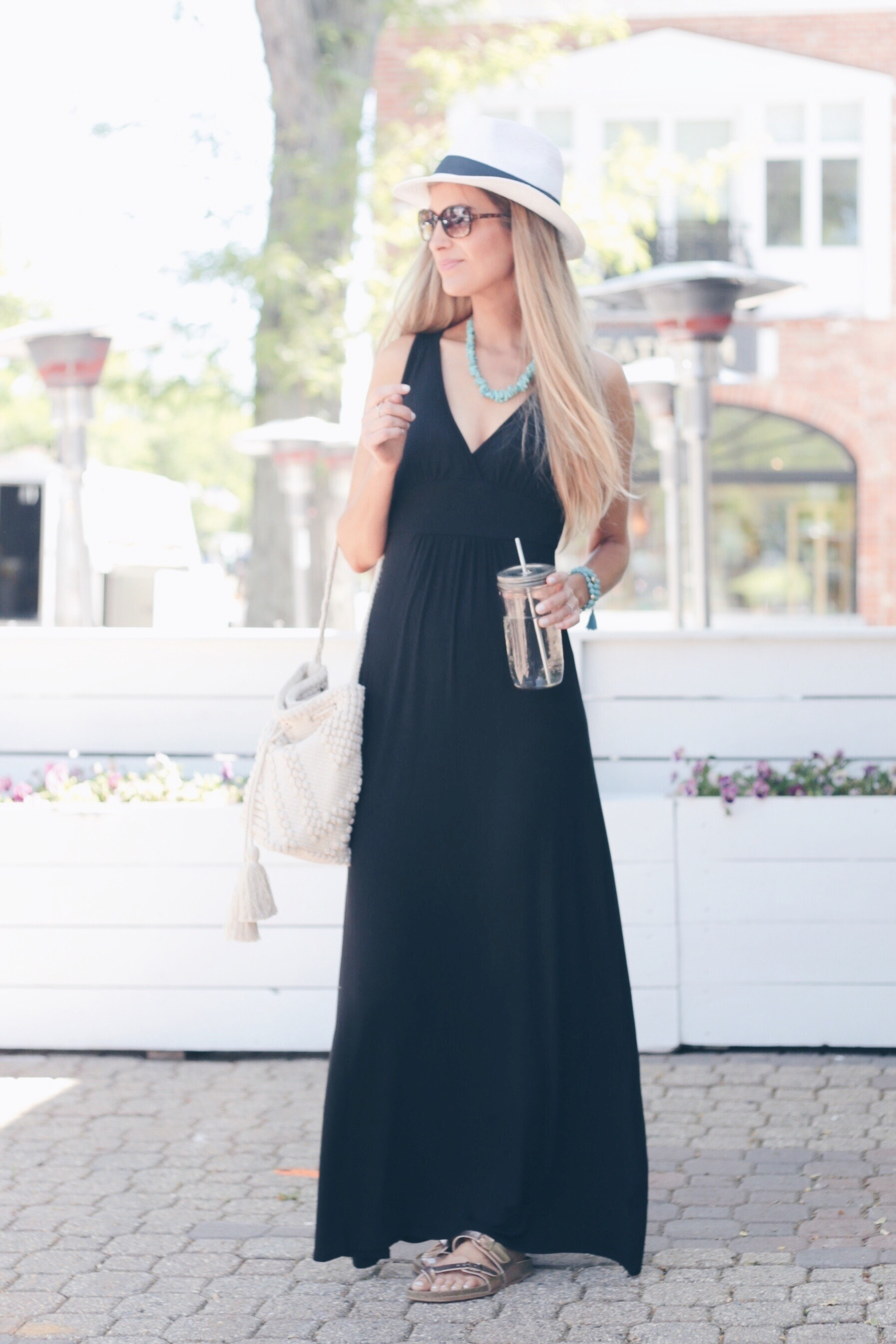 How to Wear a Little Black Maxi 3 Ways | Casual Maxi Dress