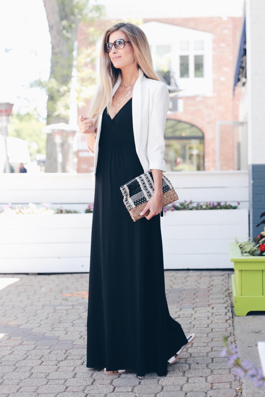 How to Wear a Little Black Maxi 3 Ways | Maxi Dress for Work | Maxi Dress With Blazer
