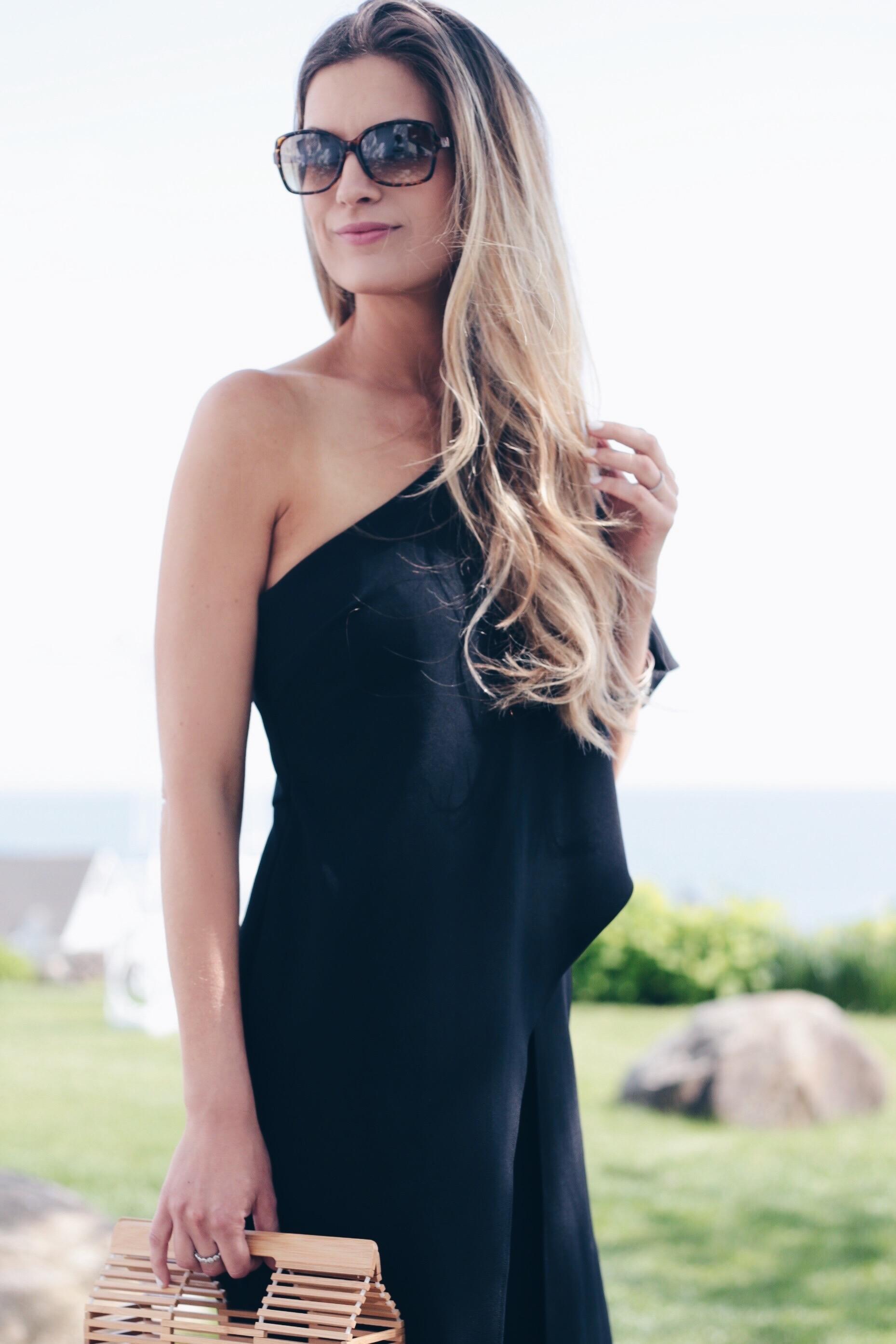 one shoulder formal jumpsuit on pinteresting plans connecticut fashion blog