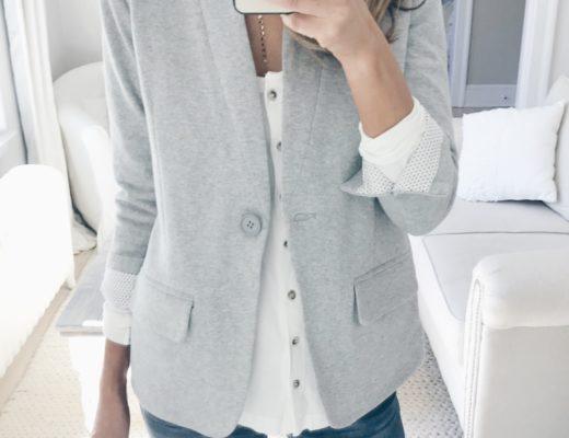 Nordstrom Anniversary Sale 2018 Try On - Gray Blazer