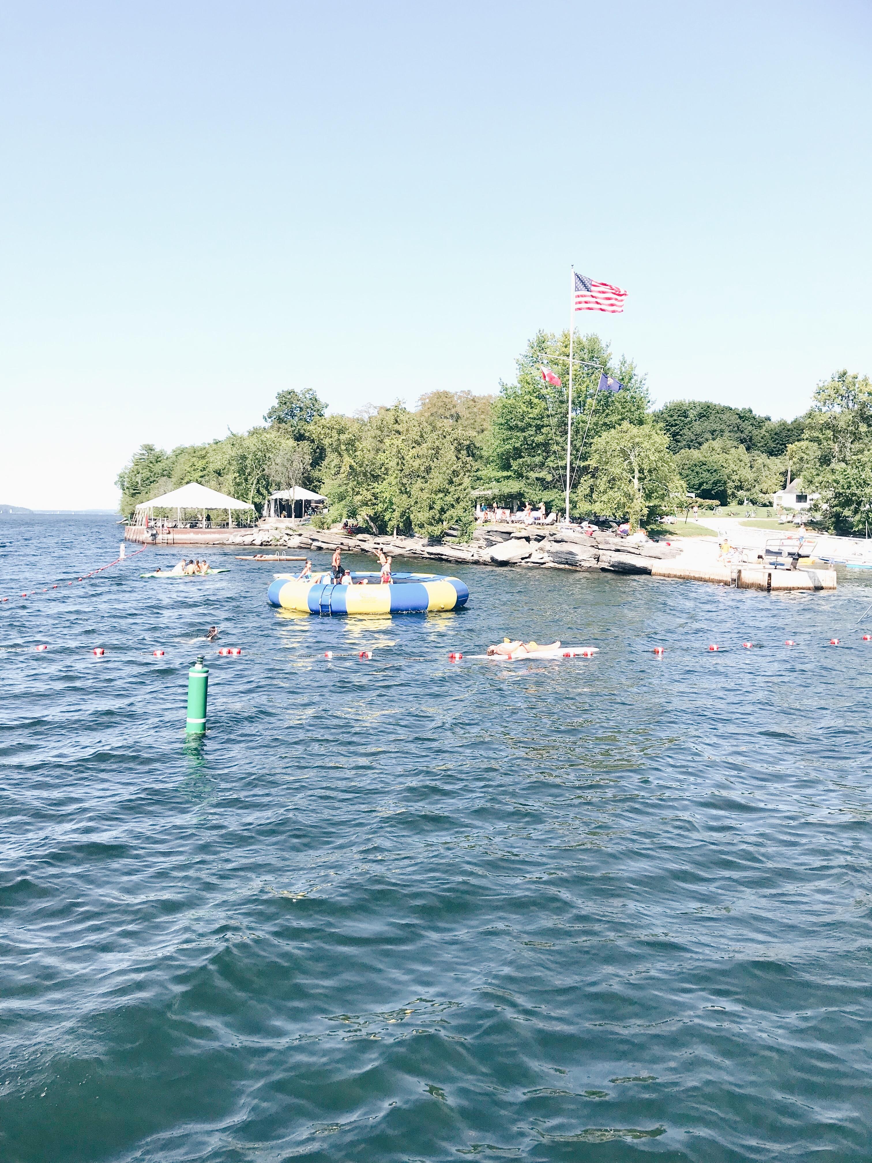 Basin Harbor Resort Review - Water Trampoline/Lake