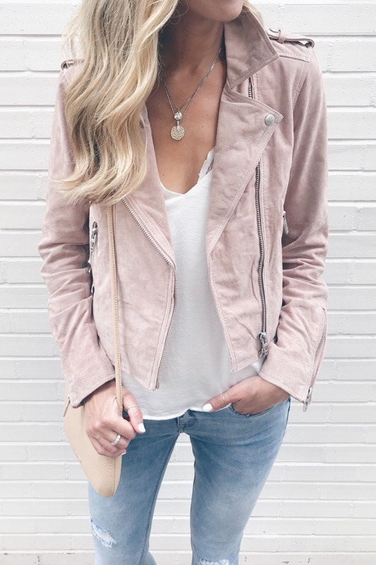 transitional Fall neutrals - blush moto jacket on pinteresting plans connecticut fashion blog