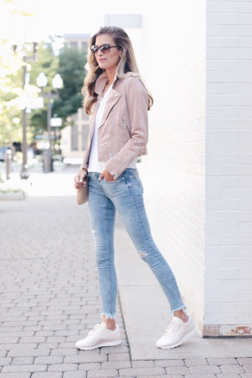 Blush Moto Jacket | Transitional Fall Neutrals
