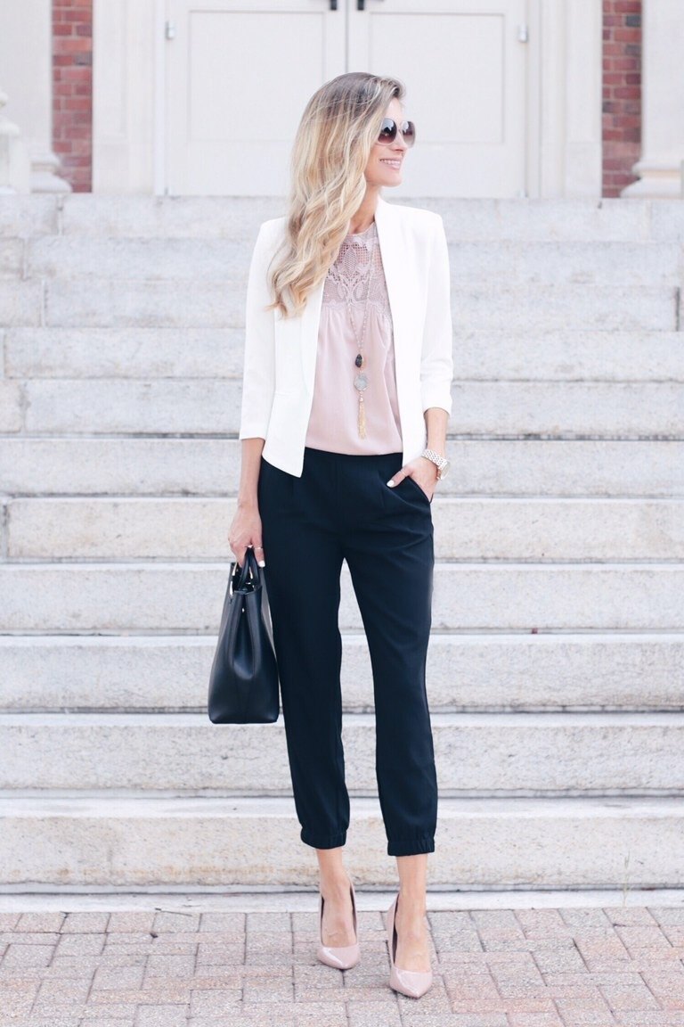 How to Style Joggers for Work with a Blazer