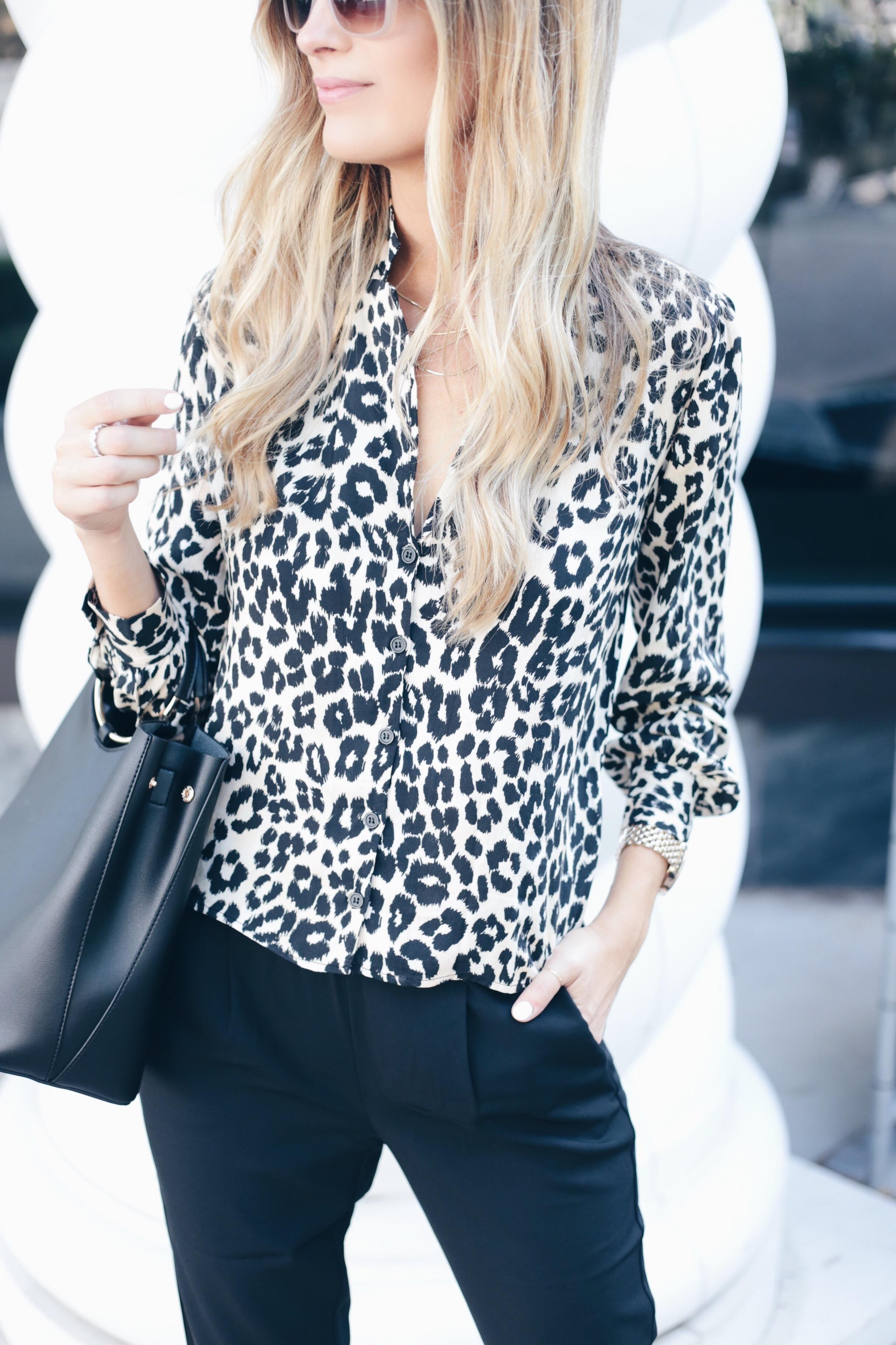 Fall fashion trends 2018 - leopard print top on Connecticut fashion blog Pinteresting Plans