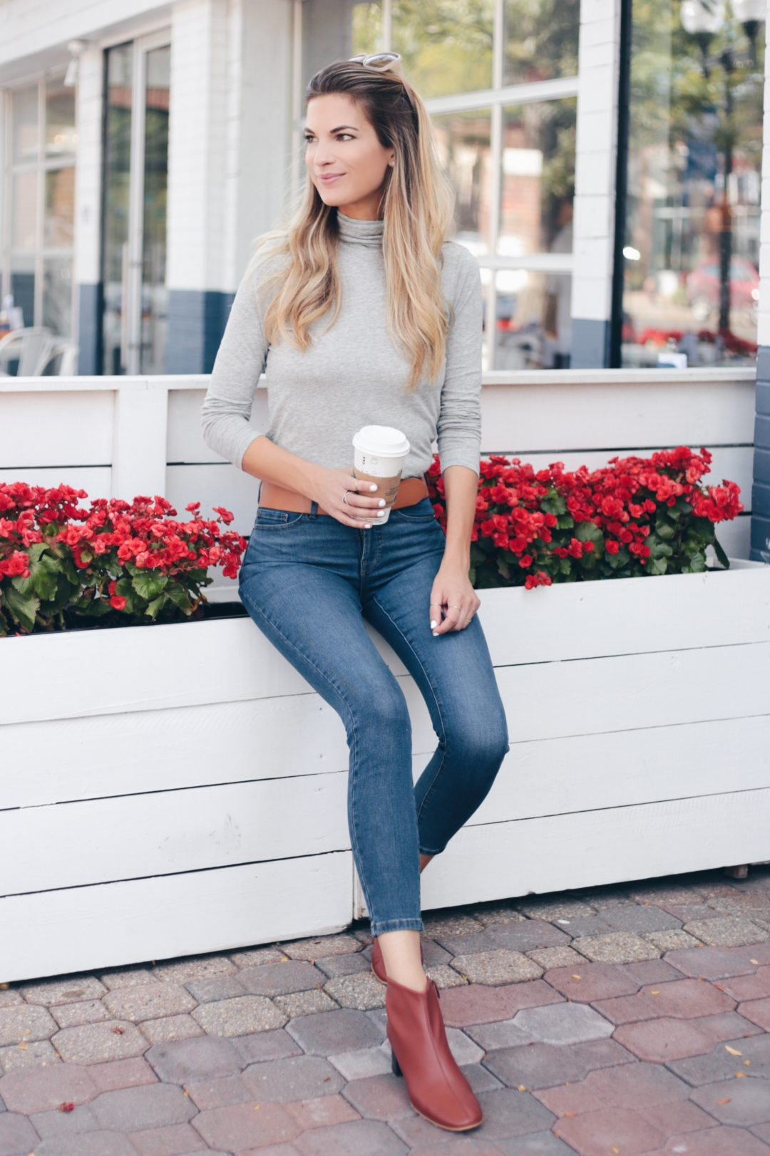 everlane jeans and day boot on pinteresting plans fashion blog