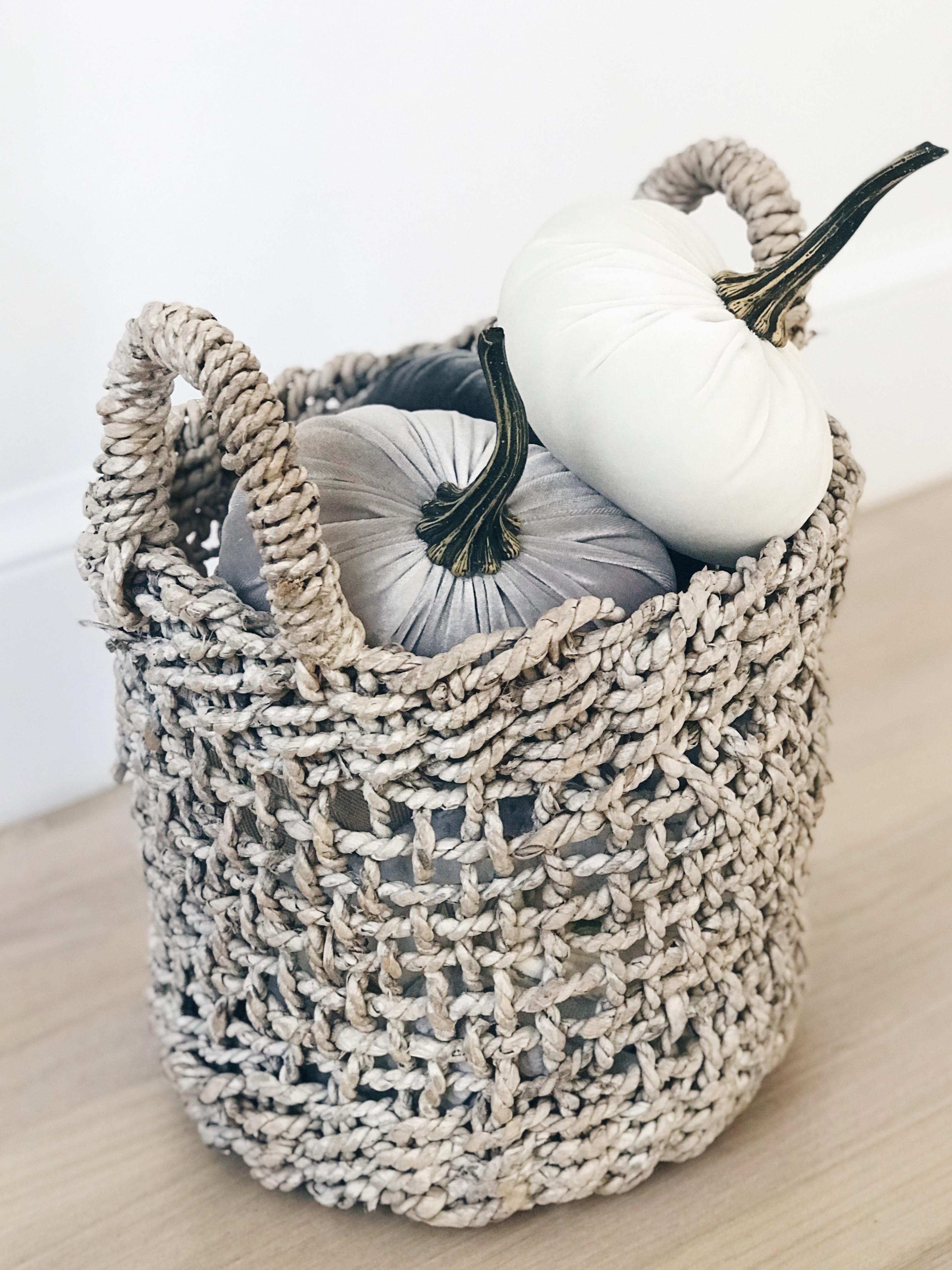 favorite fall home decor 2018 - velvet pumpkins on pinterestingplans connecticut lifestyle blog
