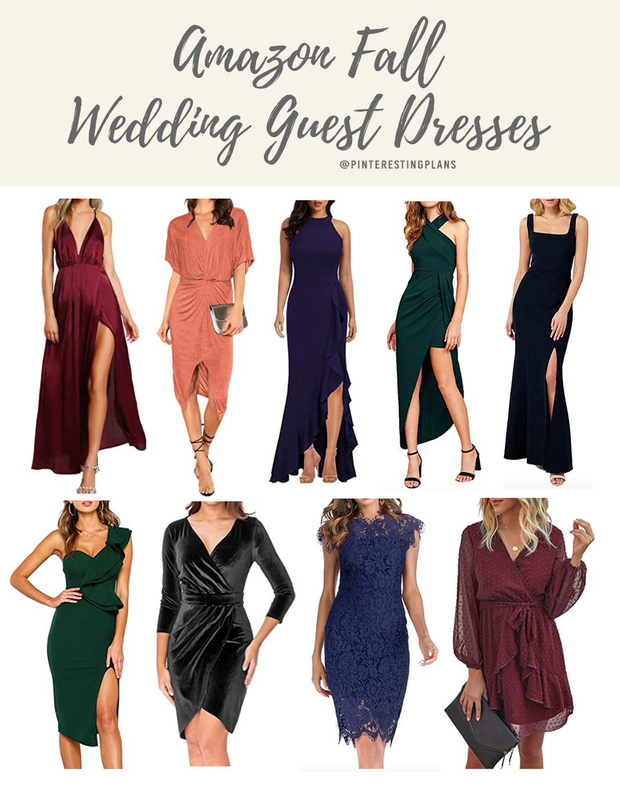 best affordable amazon dresses for fall wedding guest 2020