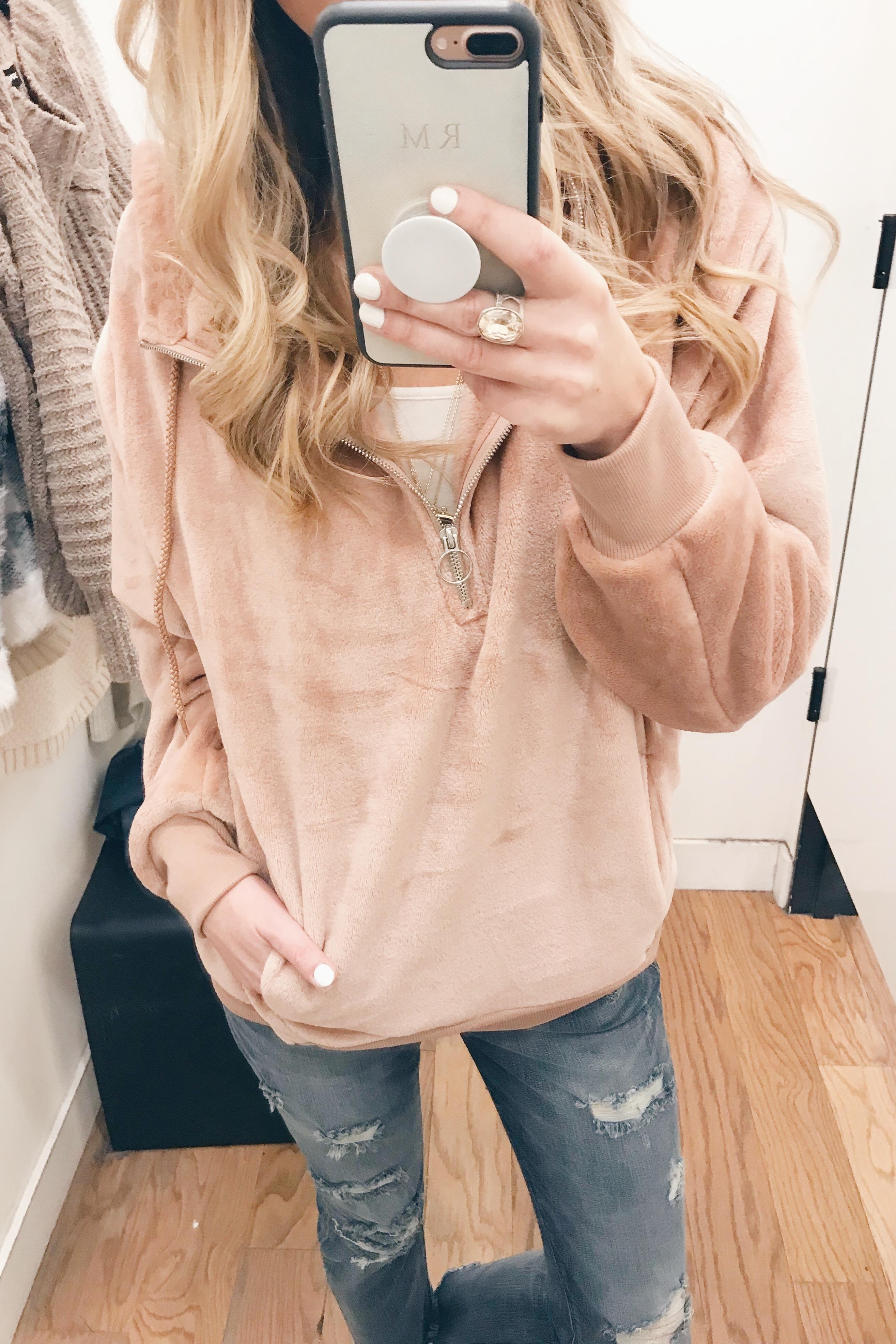 veteran's day weekend sale round up 2018 - women's oversized velour hoodie