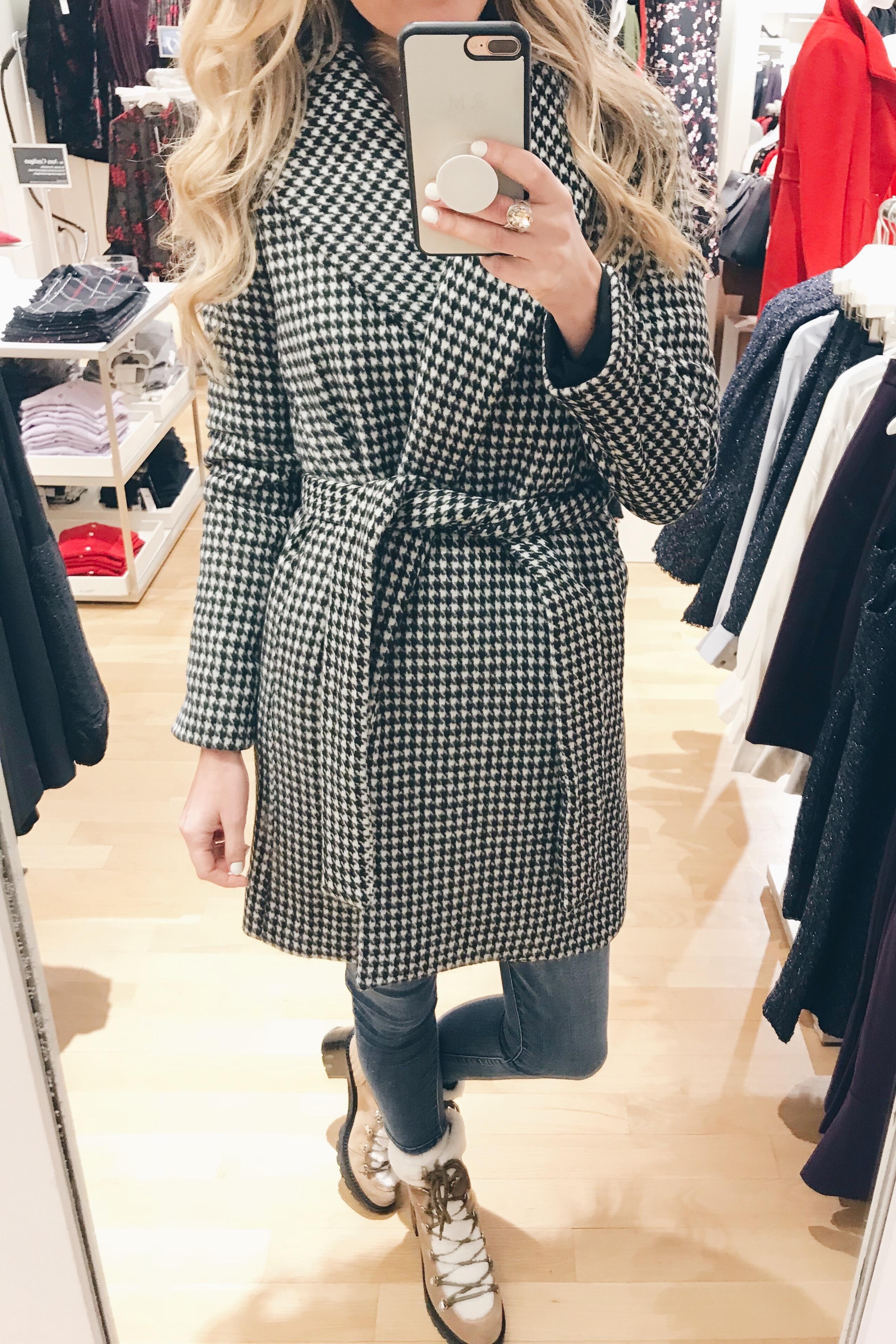 veteran's day weekend sale round up 2018 checkered women's wrap coat