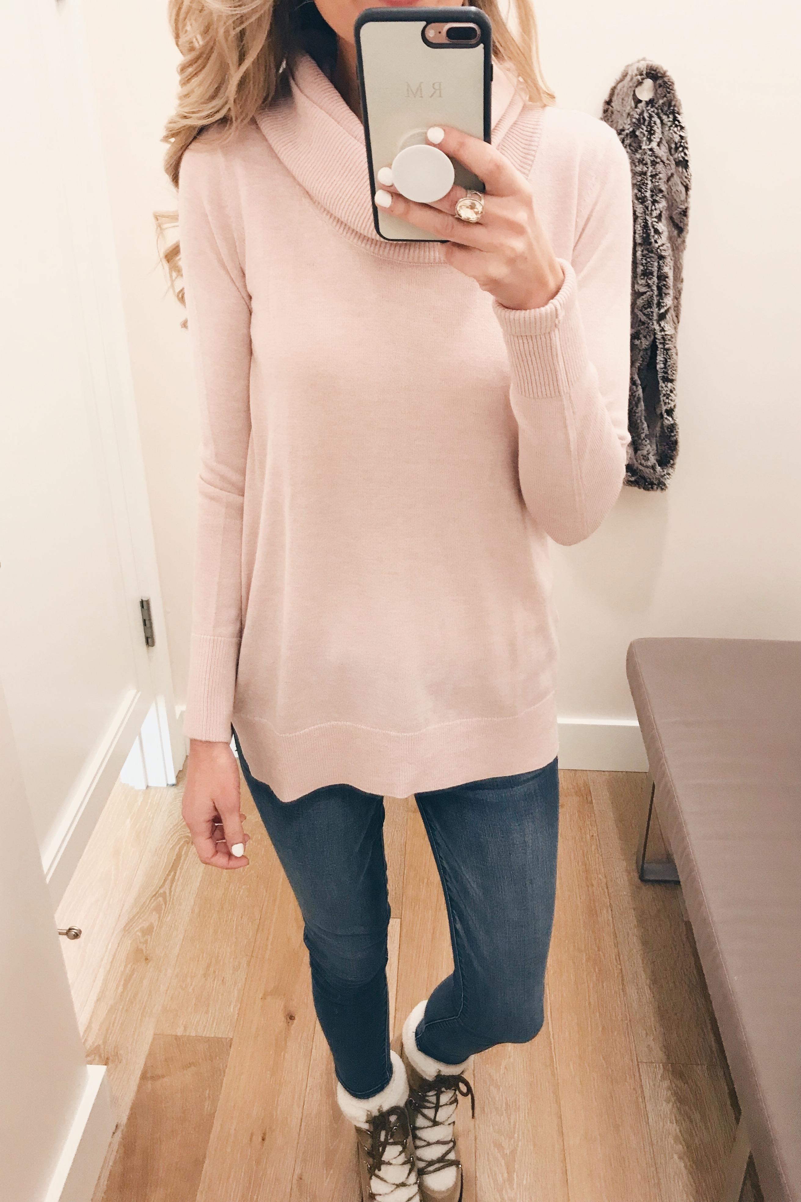 veteran's day weekend sale round up 2018 pink cowl neck women's sweater