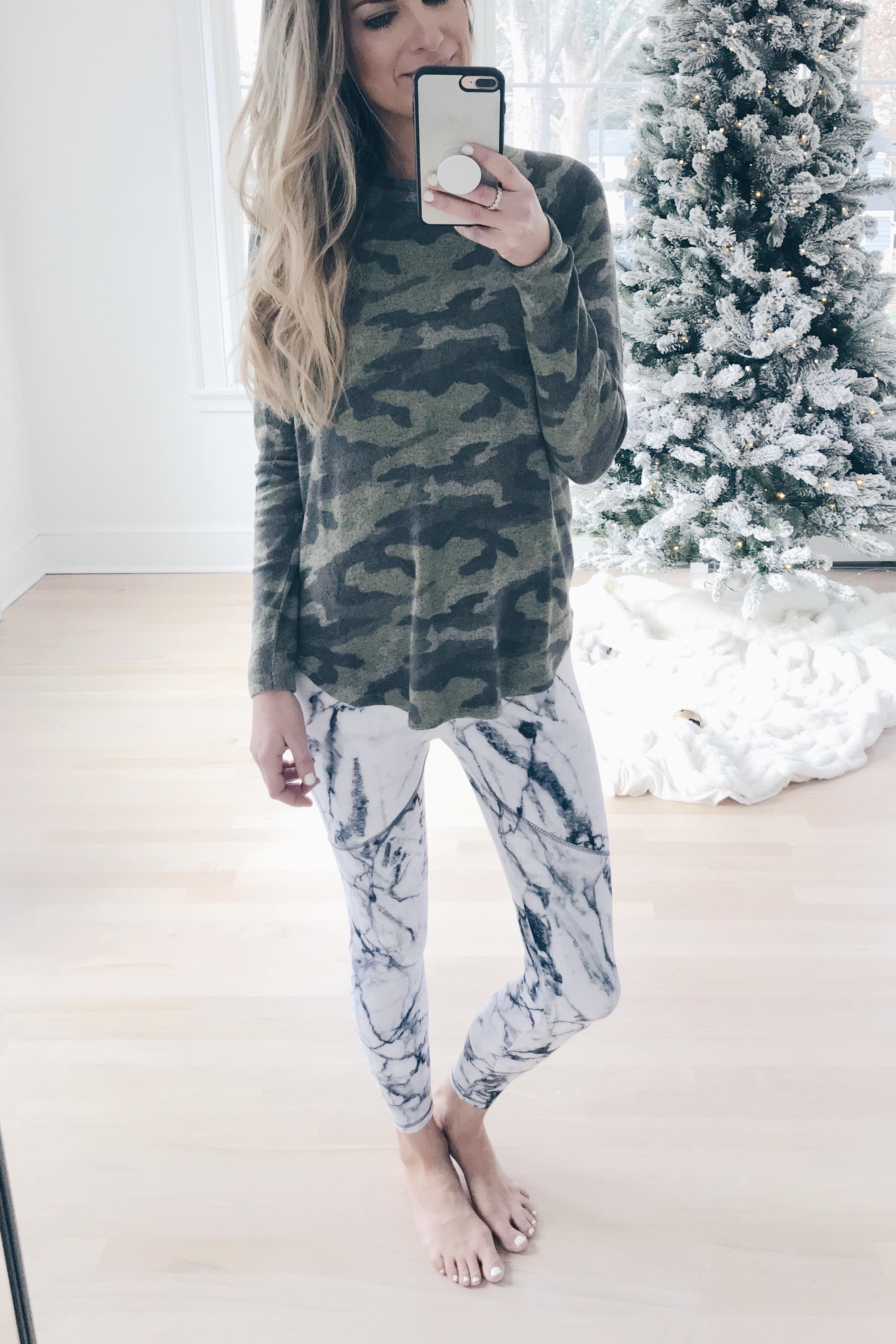 Early Cyber Week Sales - Camo Tee/Marble leggings