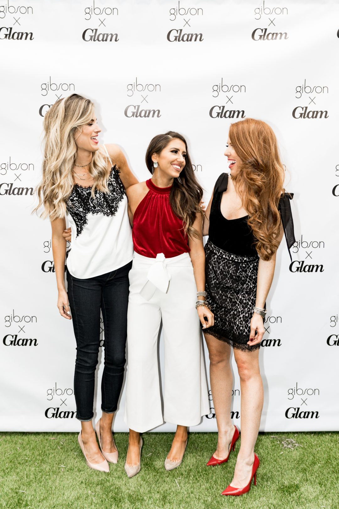 gibson glam squad lace holiday outfit ideas
